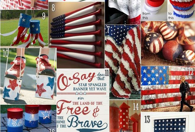 Knuckle Salad's 4th of July craft and decorating roundup