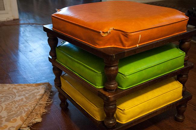 Vintage Ethan Allen stacking stools