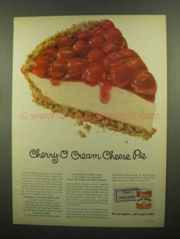 Cherry-O Cream Cheese Pie, 1965