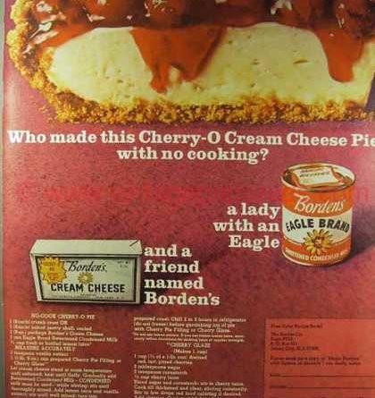 Cherry-O Cream Cheese Pie,1966