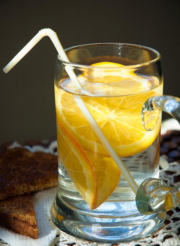 Orange infused water, just like the hotels!