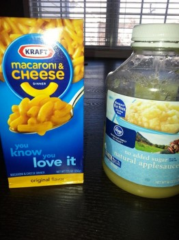 Kraft and applesauce