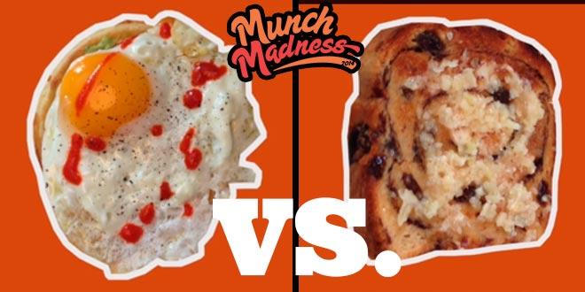 Munch Madness 2014: Eggy Waffle vs. Garlic Raisin Toast