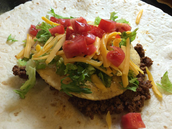 Taco Bell Copycat Crunch wrap