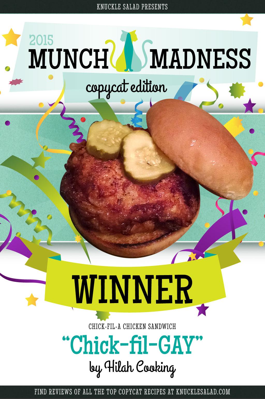Munch Madness 2015 Winner: The Chick-fil-GAY