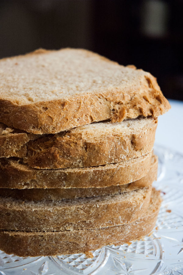 Homemade whitewheat bread from the bread machine